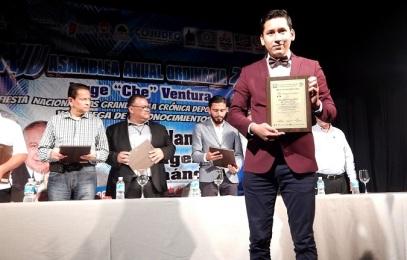 Reconocimiento a Cronista Deportivo de Chiapas Jorge Mazariegos Foto 2